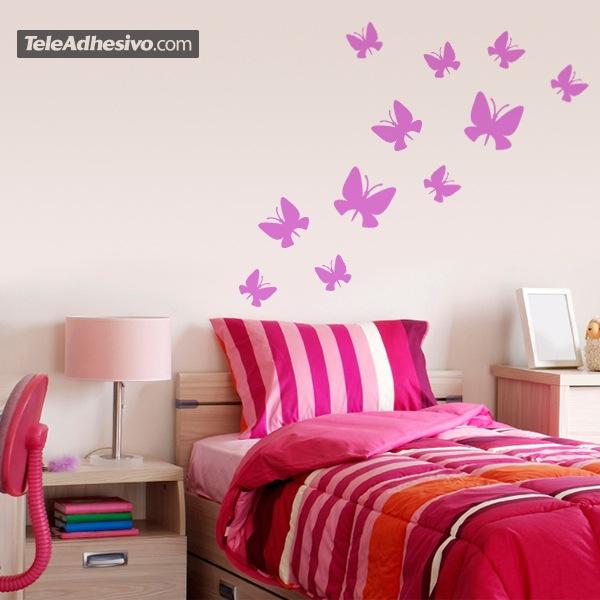 Kit de 24 vinilos de mariposas de diferentes tama os for Vinilos decorativos mariposas