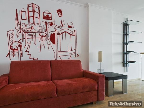 vinilo decorativo habitacion van gogh