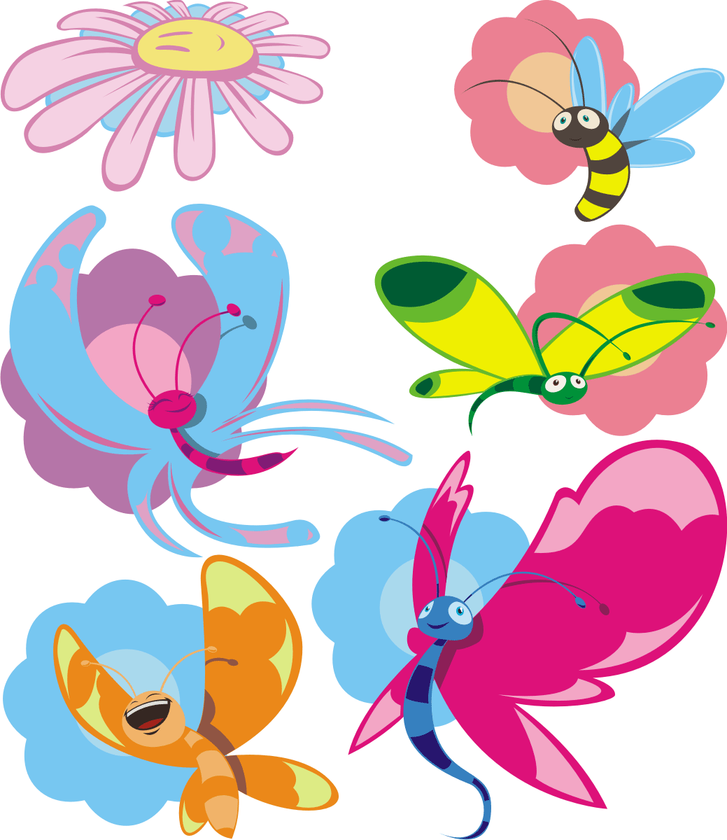 Mariposas de colores infantiles images for Vinilos mariposas