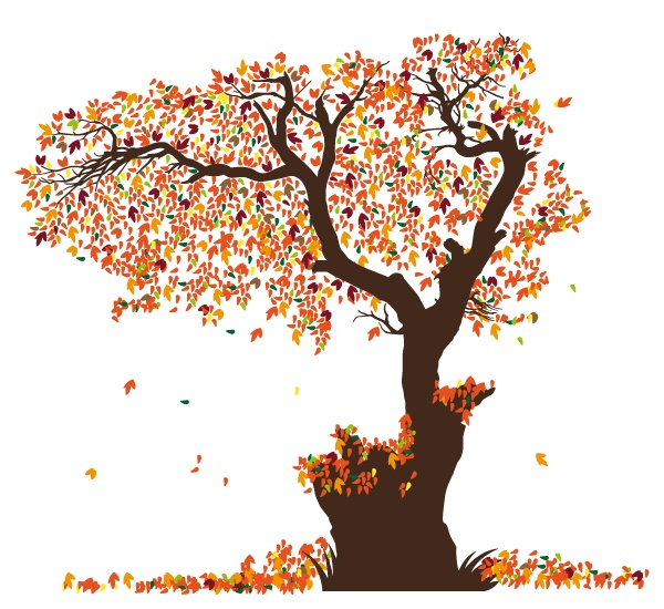 Vinilo decorativo lamina hojas para rboles - Laminas para pared ...