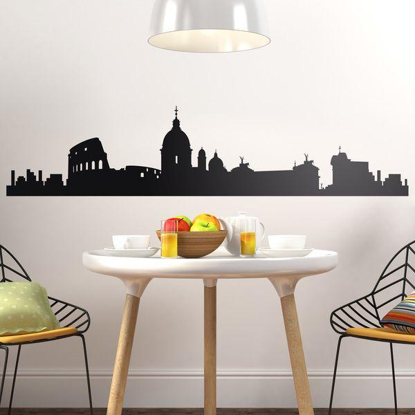 Vinilo de pared del skyline de roma - Stickers decorativos ...