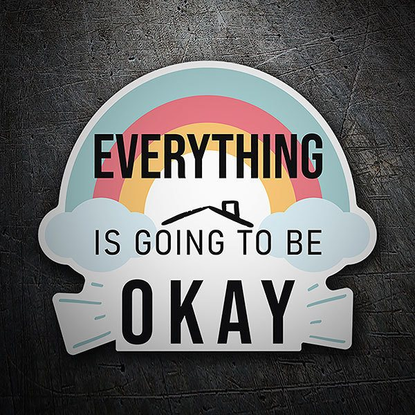 Vinilos Decorativos: Adhesivo Arcoíris Everything is going to be okay