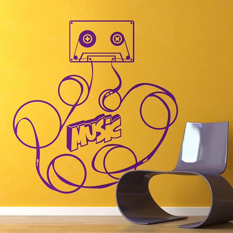 Vinilo Decorativo Cinta Musica