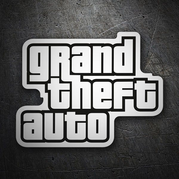 Pegatinas: Grand Theft Auto Logo