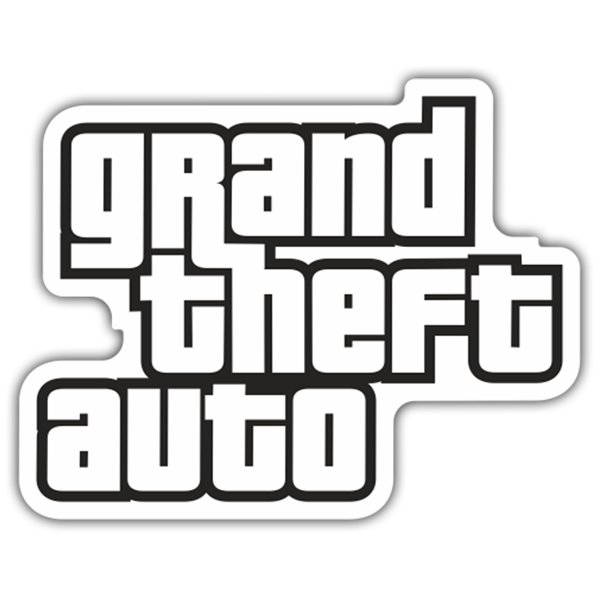 Pegatinas: Grand Theft Auto Logo 0