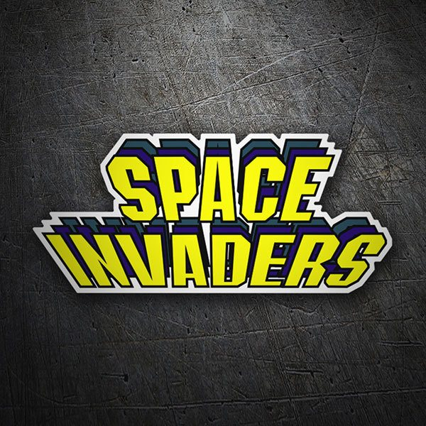 Pegatinas: Space Invaders Relieve