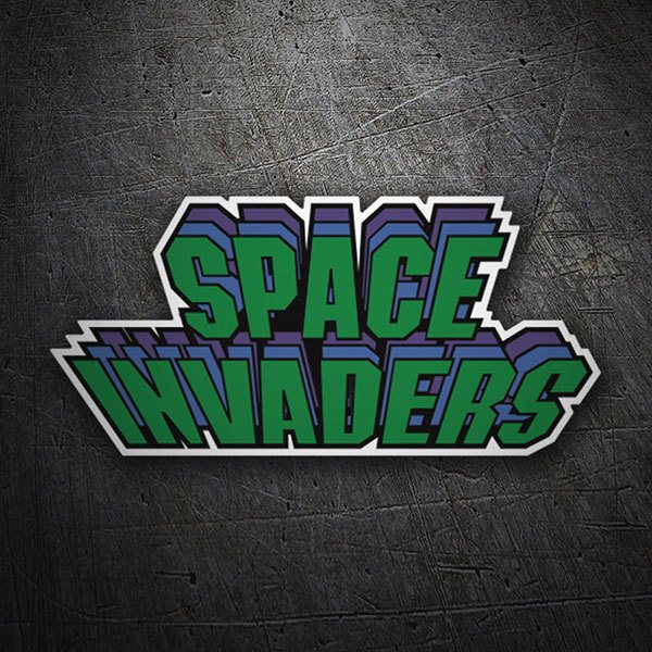 Pegatinas: Space Invaders Triple