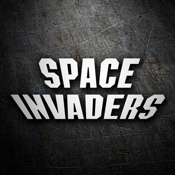 Pegatinas: Space Invaders Logo