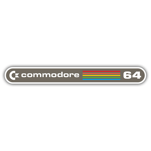 Pegatinas: Commodore 64 Logo