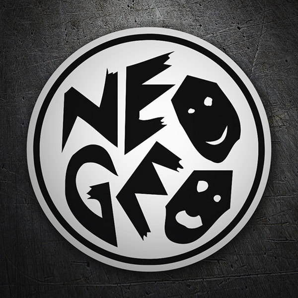 Pegatinas: Neo-Geo Faces Black and White
