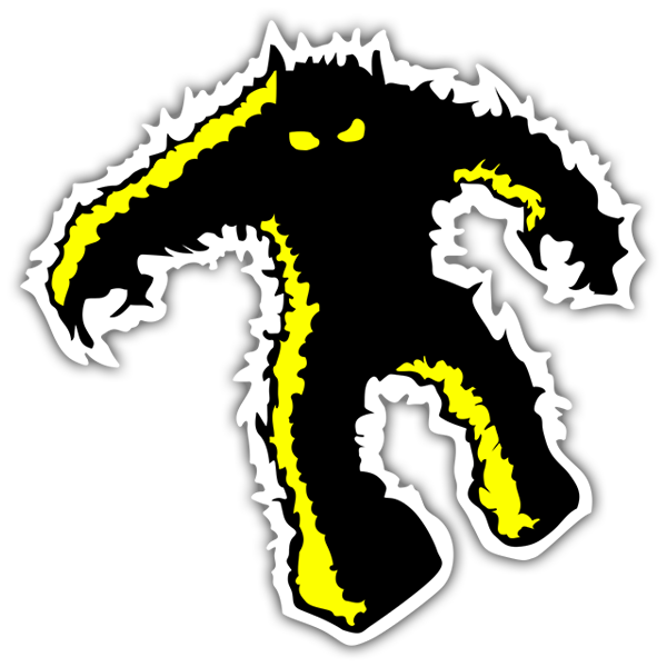 Pegatinas: Space Invaders Monster yellow