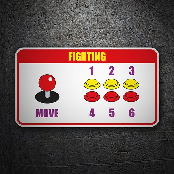 Pegatinas: Controles Fighting