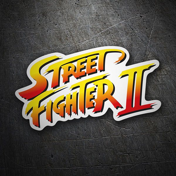 Pegatinas: Street Fighter II Logo
