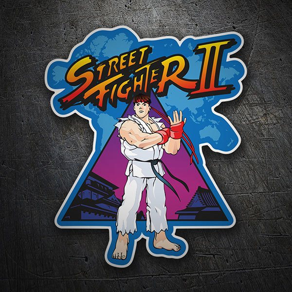 Pegatinas: Ryu (Street Fighter II)