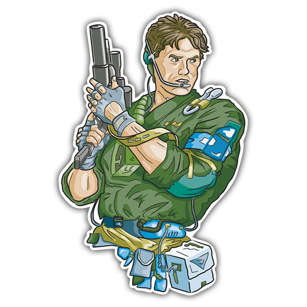 Pegatinas: Solid Snake Cartoon