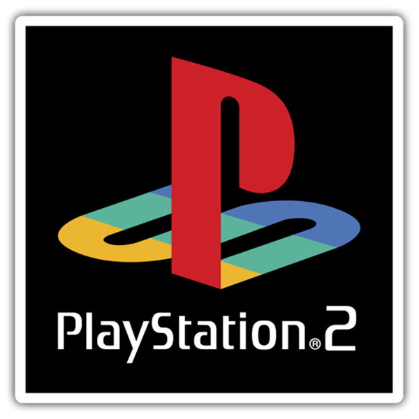 Pegatinas: Play Station 2 Sello