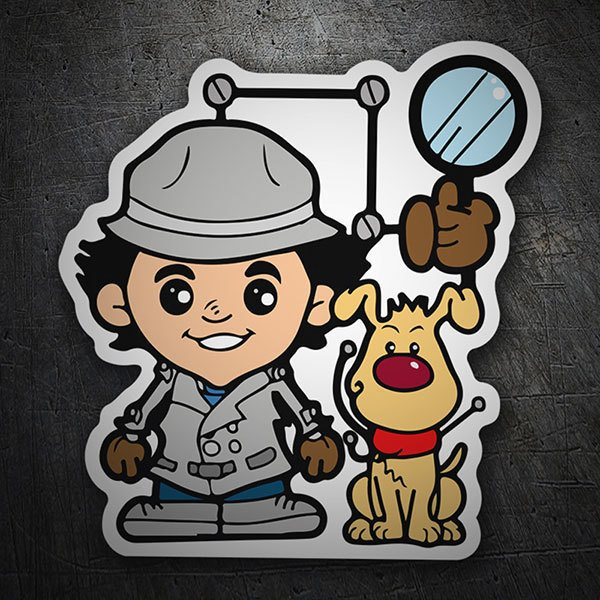 Pegatinas: Inspector Gadget Cartoon
