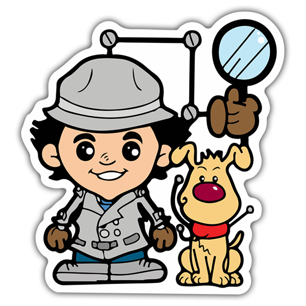 Pegatinas: Inspector Gadget Cartoon 0