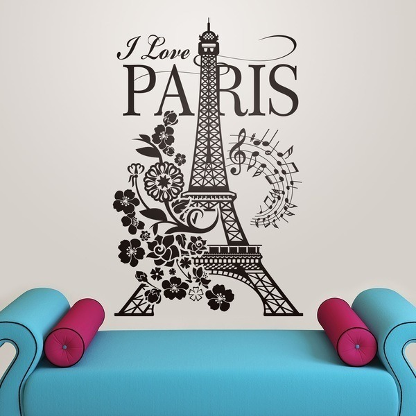 Vinilos Decorativos: I Love Paris 0
