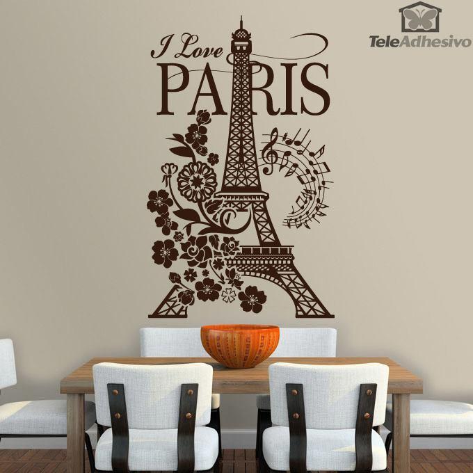 I love paris - Murales pintados en la pared ...