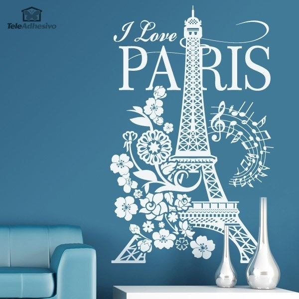Vinilos Decorativos: I Love Paris