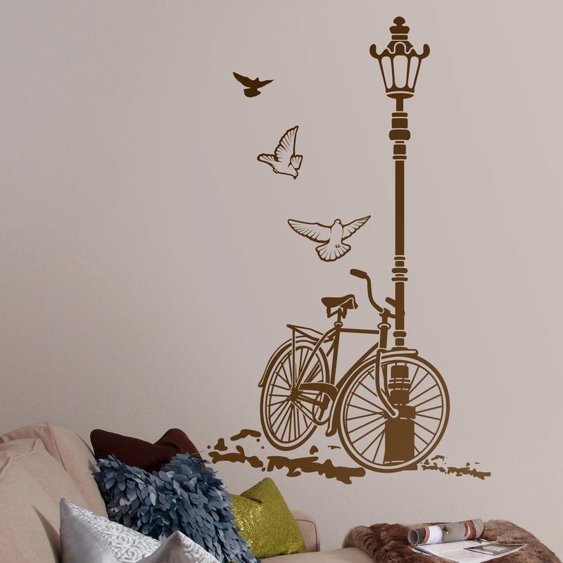 Bicicleta y farola for Vinilos de dormitorios
