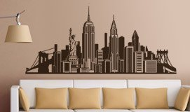 Vinilos Decorativos: Skyline New York  3
