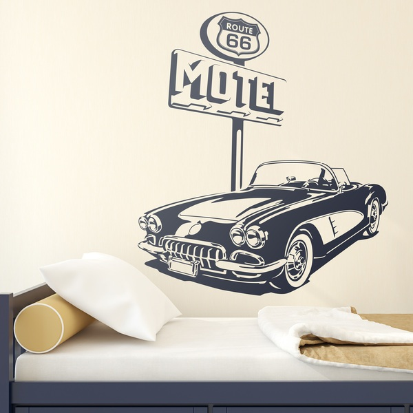 Vinilos Decorativos: Chevrolet Corvette Route 66