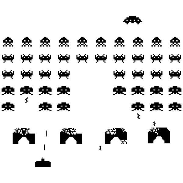 Pegatinas: Space Invaders