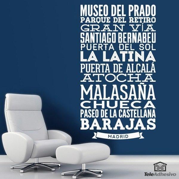 Vinilo decorativo tipogr fico calles de madrid - Vinilos decorativos en madrid ...