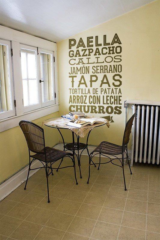 Vinilo decorativo gastronom a de espa a - Teleadhesivo vinilos decorativos espana ...