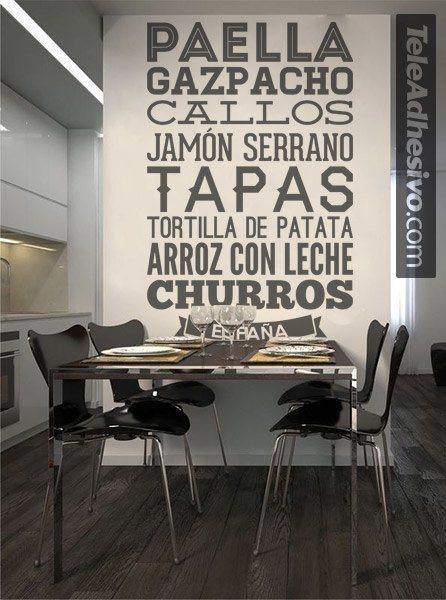 Gastronom a de espa a - Teleadhesivo vinilos decorativos espana ...