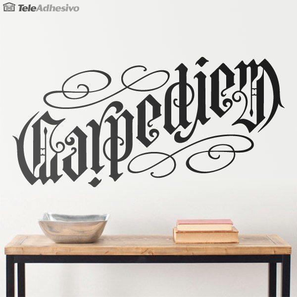 Carpe diem for Vinilos decorativos letras