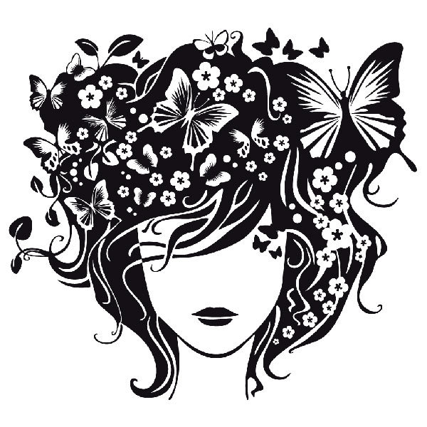Peinado mariposas for Vinilos decorativos blancos