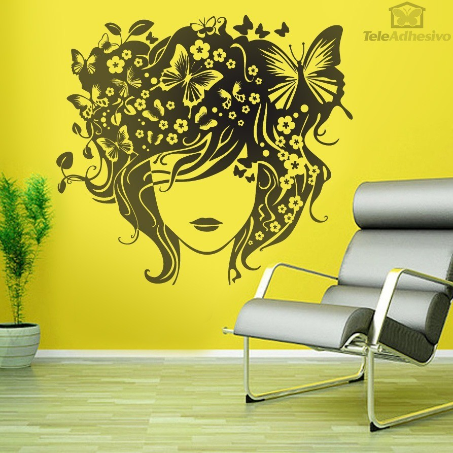 Peinado mariposas for Vinilos mariposas