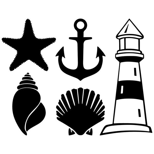 vinilo decorativo para ba os s mbolos marineros