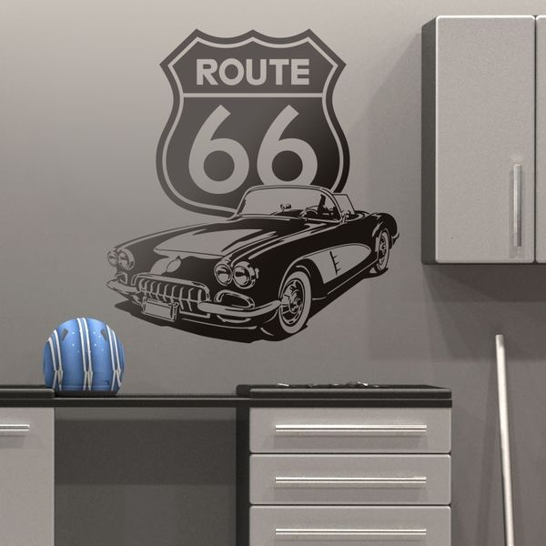Vinilos Decorativos: Corvette Route 66