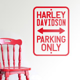 Vinilos Decorativos: Harley Parking Only 2
