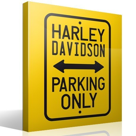 Vinilos Decorativos: Harley Parking Only
