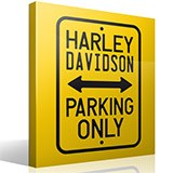 Vinilos Decorativos: Harley Parking Only 3