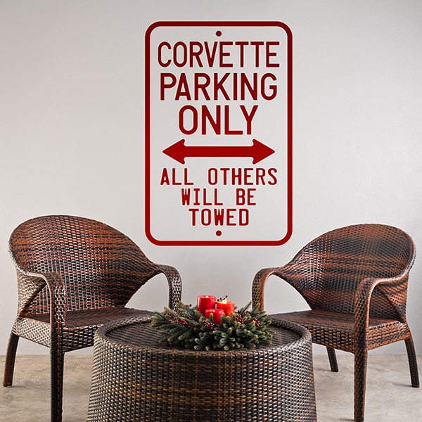 Vinilos Decorativos: Corvette Parking Only