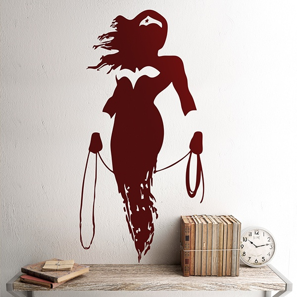 Vinilos Decorativos: Wonder Woman Silueta 0