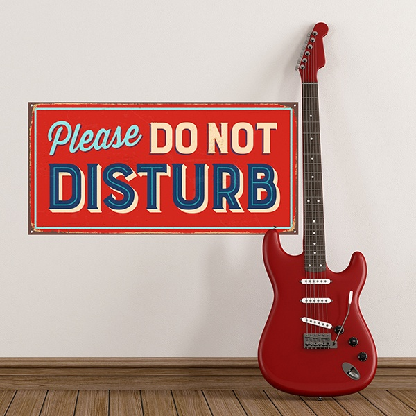 Vinilos Decorativos: Señal retro Please do not disturb