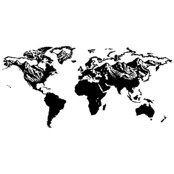 Vinilo mapa mundi relieve monta as - Vinilos mapa mundi ...