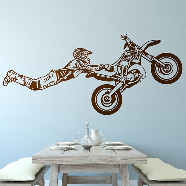 Vinilos Decorativos: Motocross salto Superman