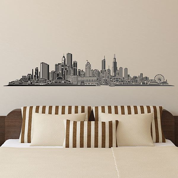 Vinilos Decorativos: Chicago skyline 0