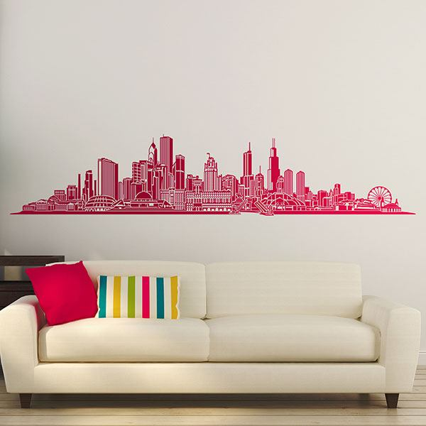 Vinilos Decorativos: Chicago skyline