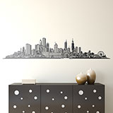 Vinilos Decorativos: Chicago skyline 3