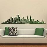 Vinilos Decorativos: Chicago skyline 4