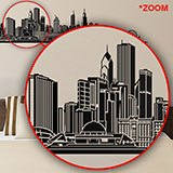 Vinilos Decorativos: Chicago skyline 5